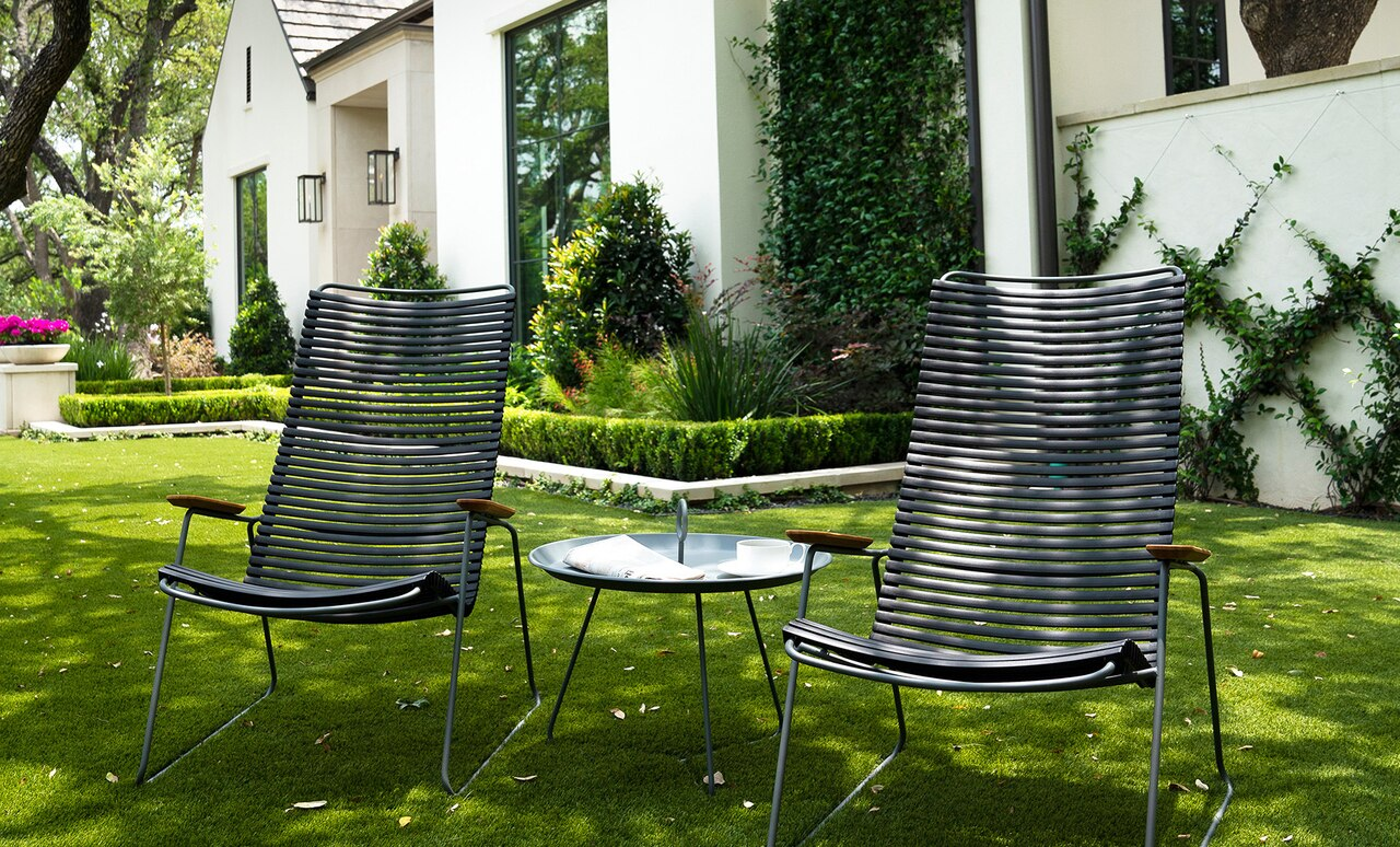 Pair of Playnk Lounge Chairs in black.