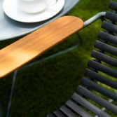The Playnk Lounge Chair adds color and texture to any outdoor space!
