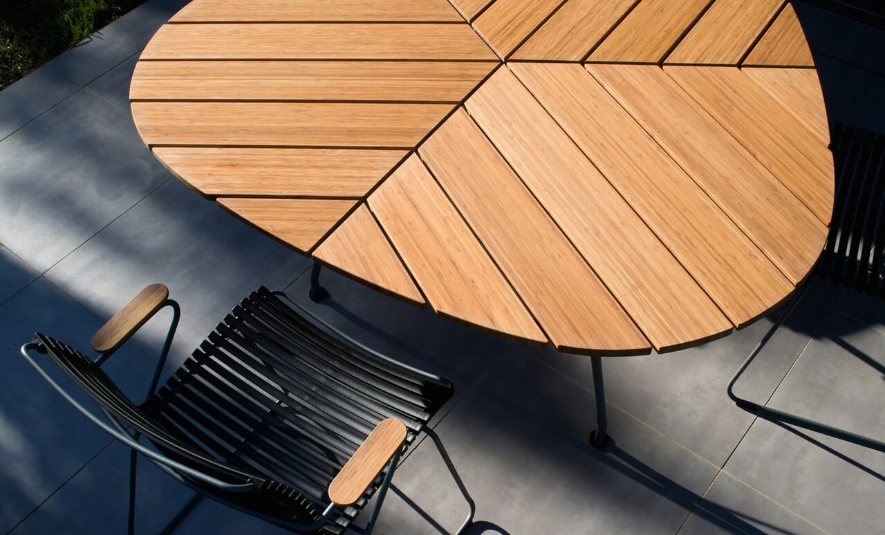 Add style to your outdoor space with the Playnk Triangle Dining Table.