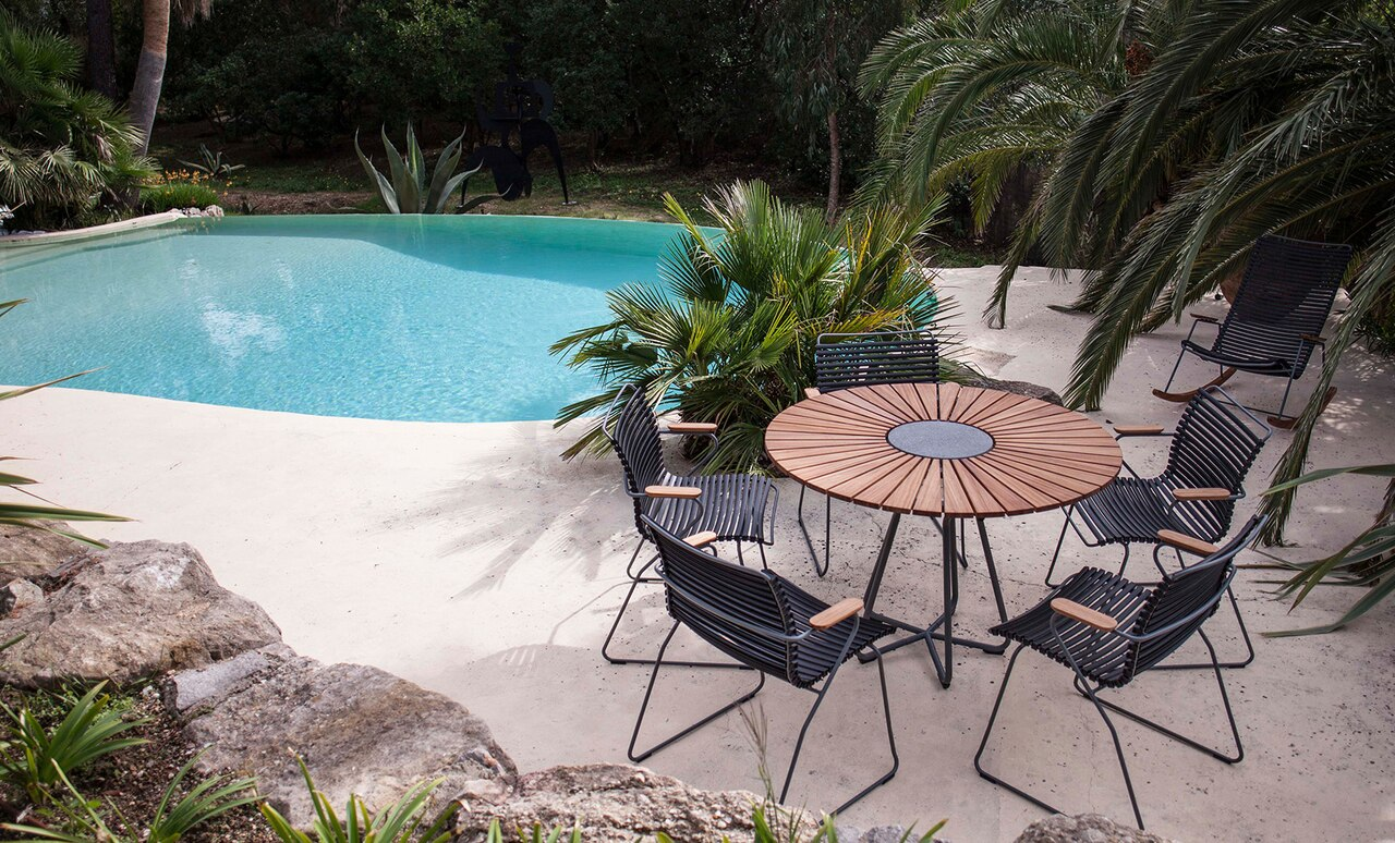 Ledge Loungers offers tables perfect for any poolscape.