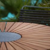 A close up of the Playnk Round Dining Table.