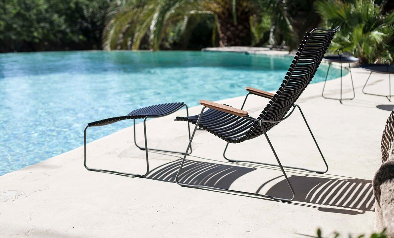 The Playnk Lounge Chair by the pool.