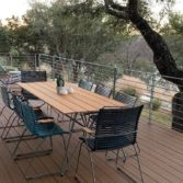 Playnk Rectangular Dining Table can be paired with the Playnk chair to create your own outdoor dining style.