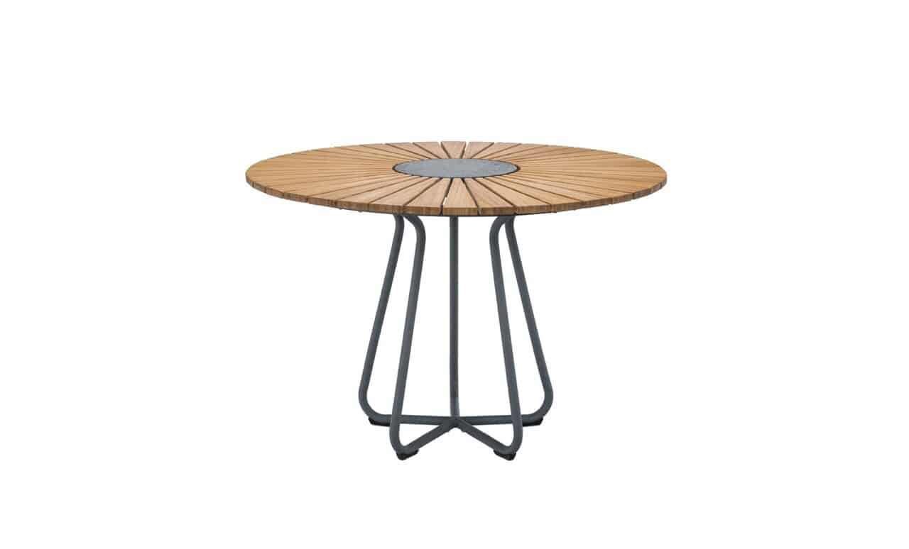 The Playnk round dining table adds style and sophistication to any patio area.