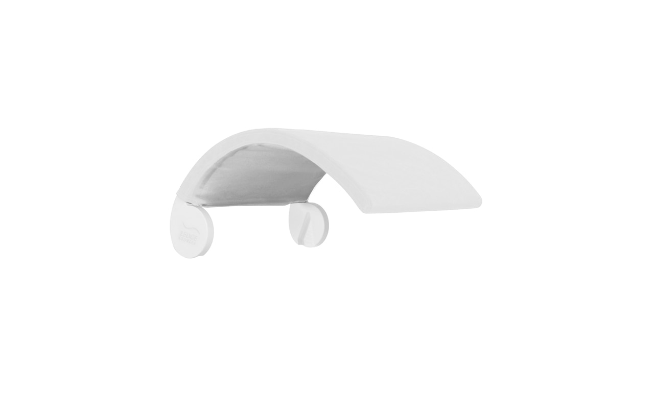 Ledge Lounger Signature Chair Shade in white.