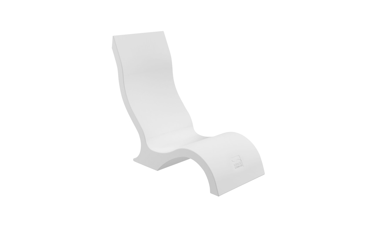 Ledge Lounger Signature Chair featured in the white color option.