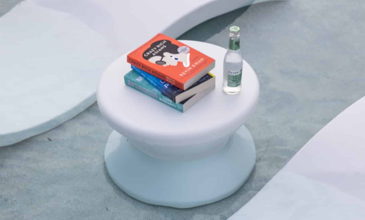 """Ledge Lounger Signature 14"""" Side Table in white."""