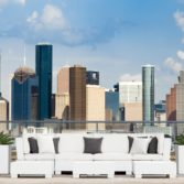 Mainstay Sectional with skyline behind it.