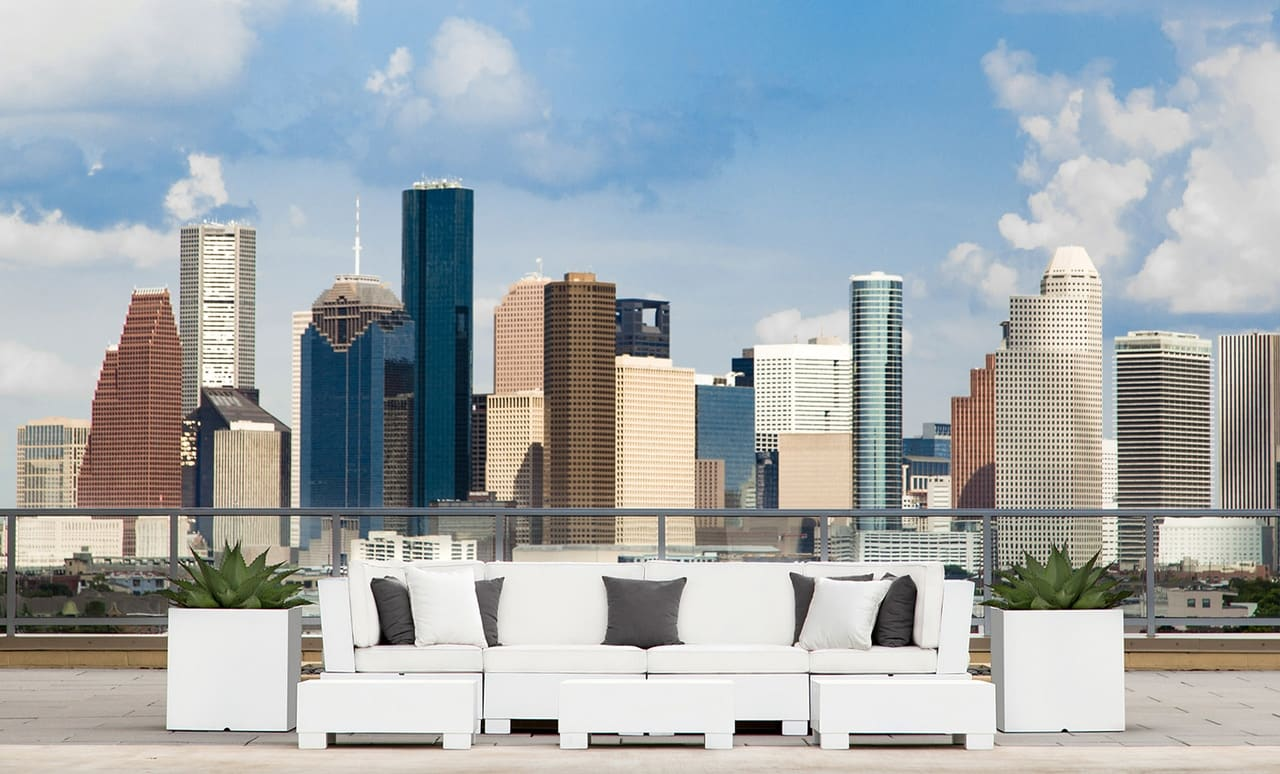 Ledge Lounger Signature Sectional on a rooftop.
