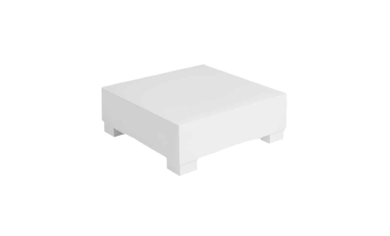 Signature Sectional Endcap by Ledge Lounger in white.