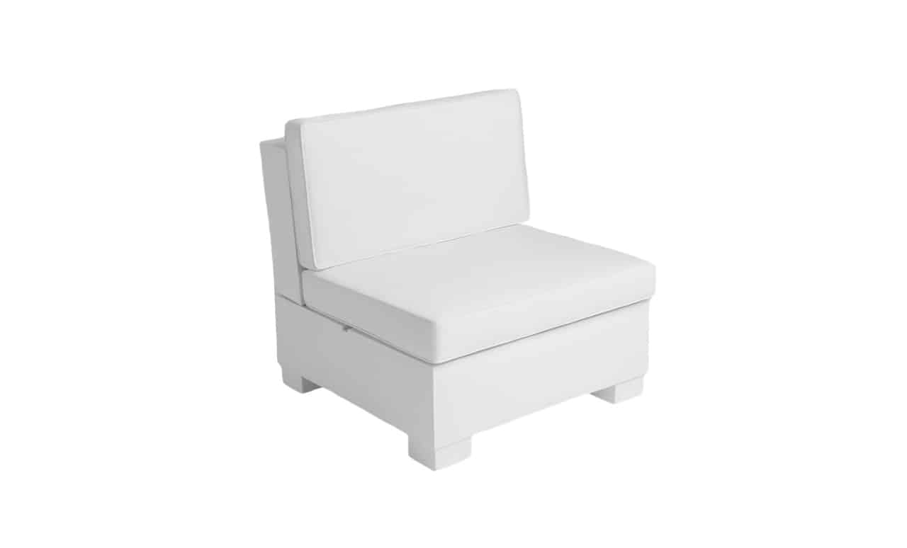 Signature Sectional Middle Piece in white.