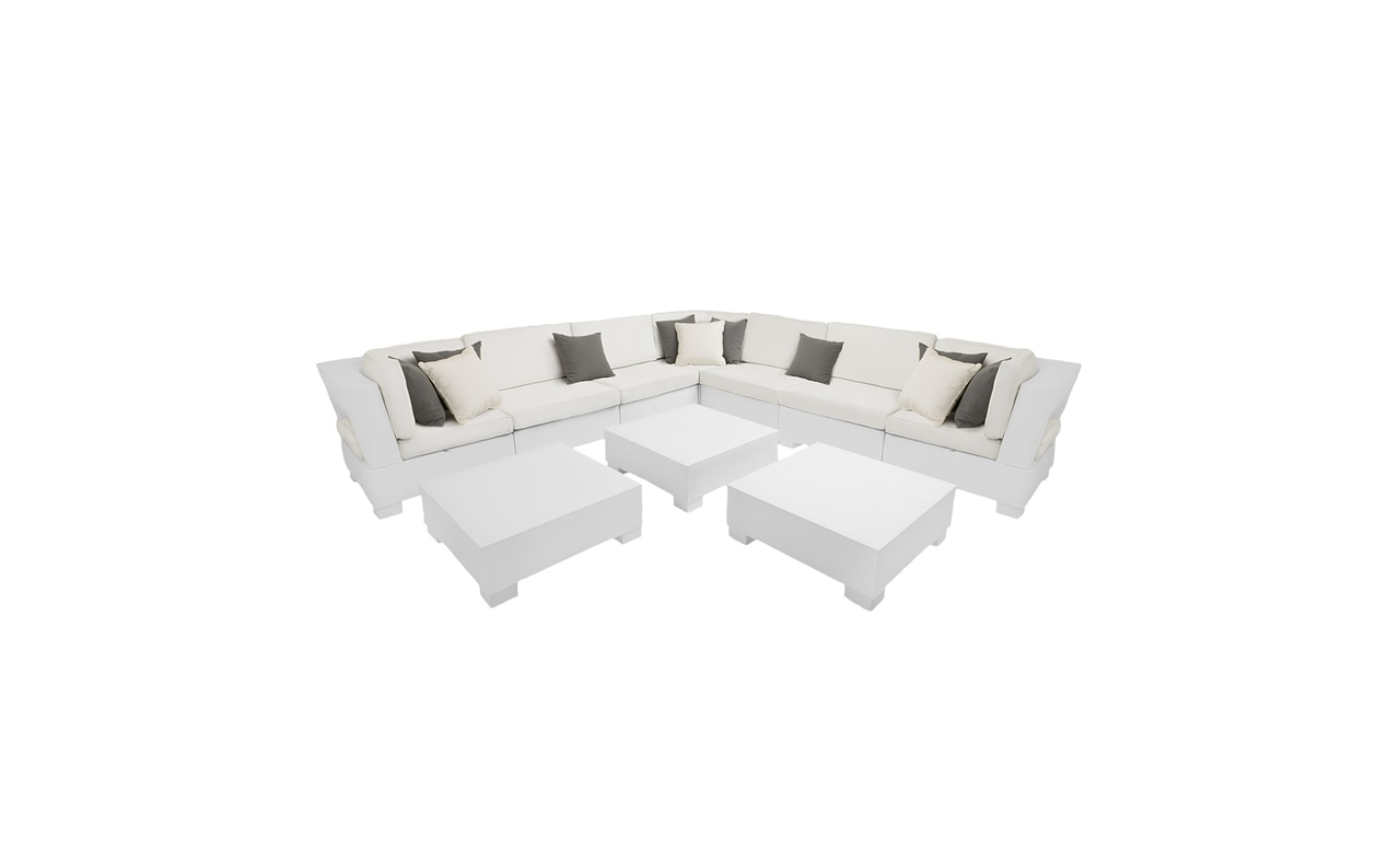 This large Signature Sectional offers outdoor patio seating for a crowd.