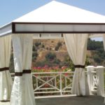 A traditional cabana can dress up any space.