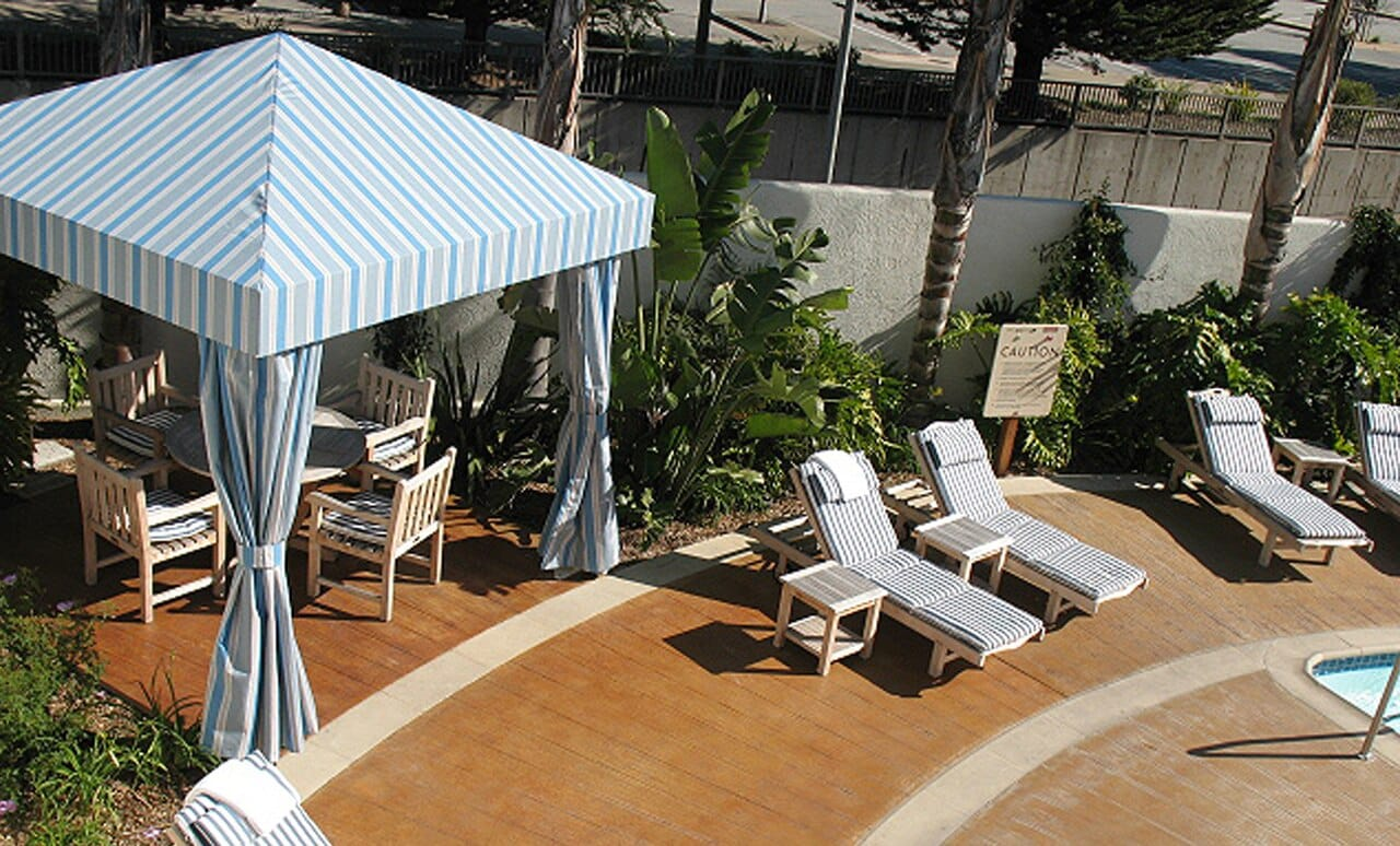 A Traditional Cabana offers a beautiful place to relax, dine or gather.