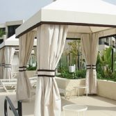 Traditional cabanas are perfect for personal and commercial spaces.
