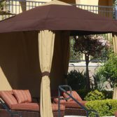 The Relaxed Traditional Cabana offers style and shade.