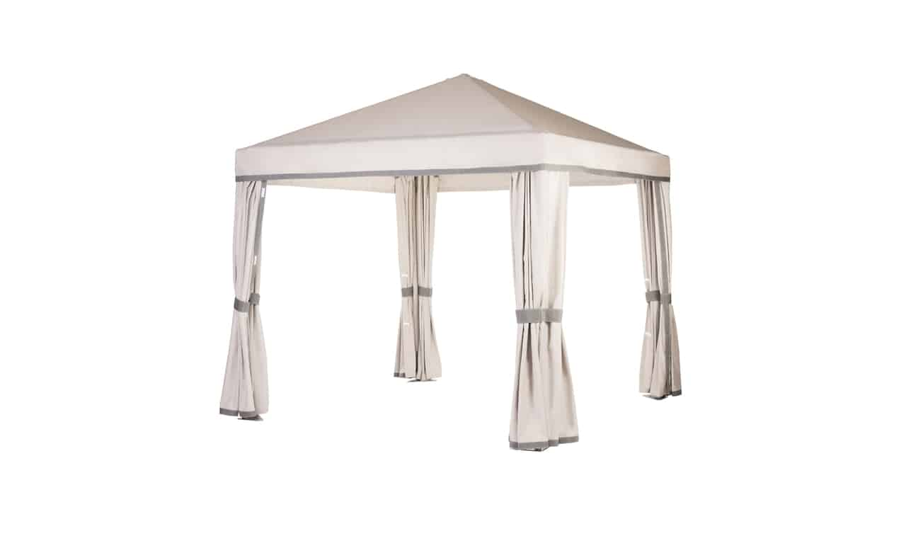 The Relaxed Traditional Cabana can dress up any space and add shade.