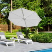 The Pinnacle Umbrella adds shade, style and sophistication to the pool.