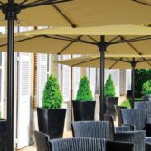 The Select Umbrella offers style and sophistication along with shade.