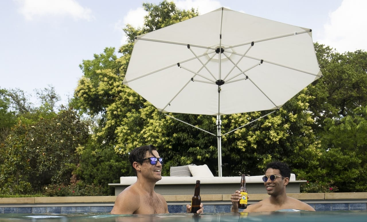 Ledge Lounger offers an umbrella for every pool or outdoor seating area!