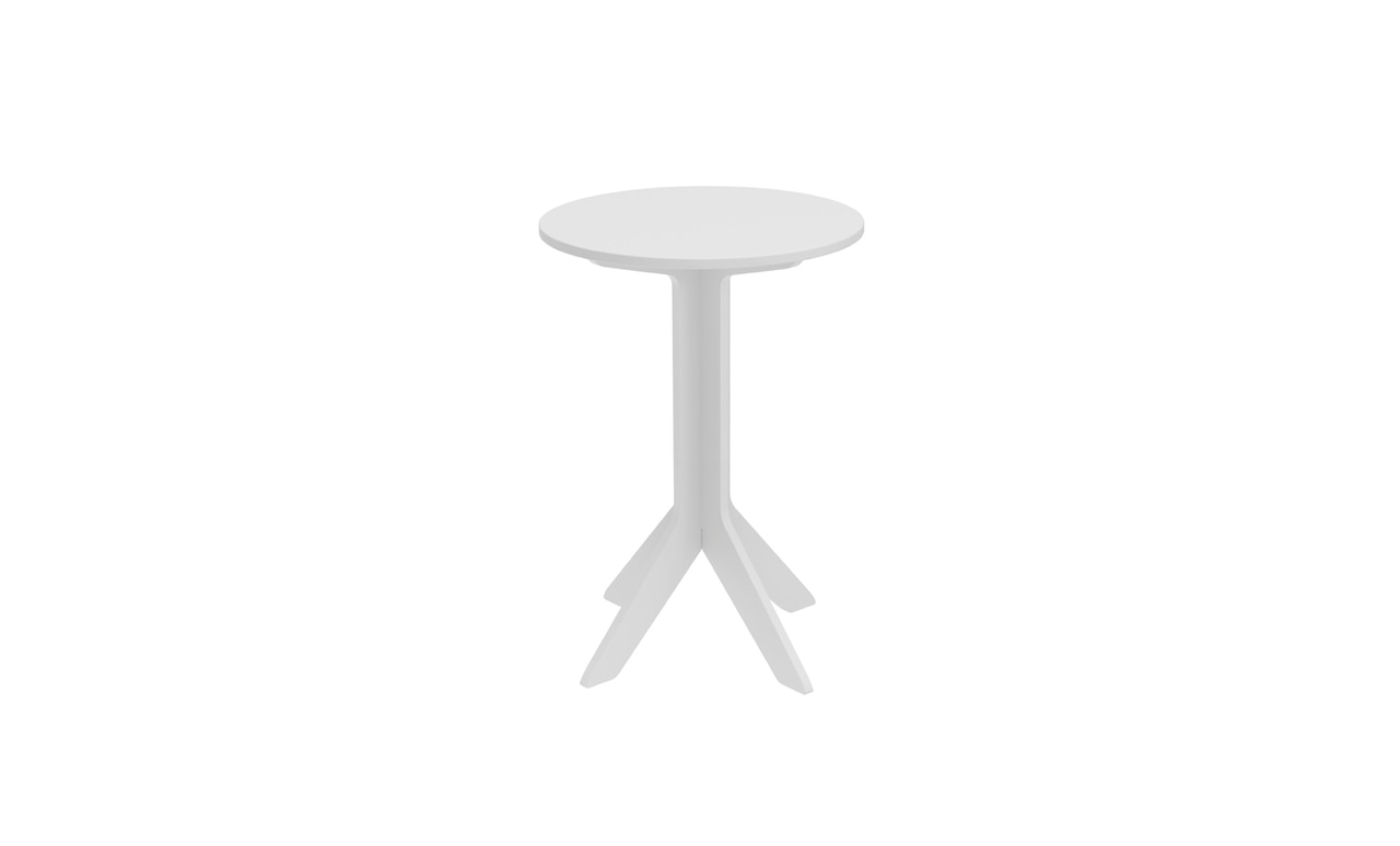 The Mainstay Tall Round Side Table is perfectly sized for any outdoor space.