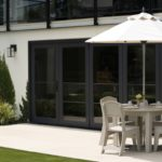 Premier Umbrella with patio table by Ledge Loungers
