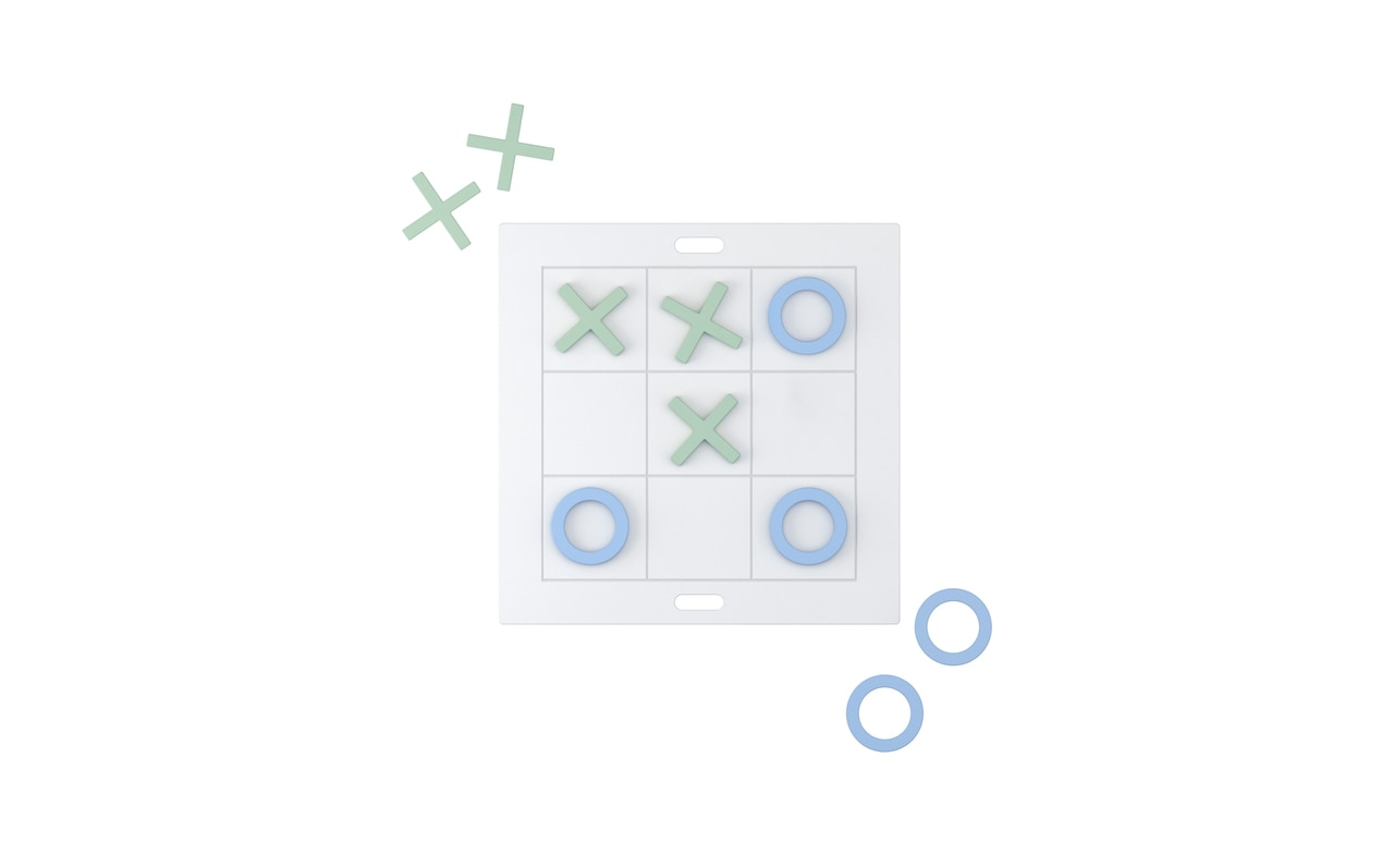 Tic Tac Toe game by Ledge Lounger.