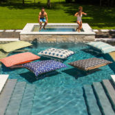The Laze Pillow is great for in pool fun and relaxation for the whole family! Shop now!