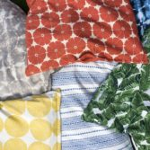 Variety of Laze Pillows in different fabrics.
