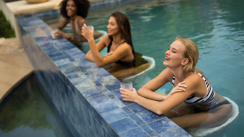 Ledge Loungers in Pool Furnishings