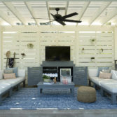 Ledge Lounger Bar Credenza in use.