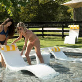 the Signature Riser gives your in pool furniture a bit of a boost.